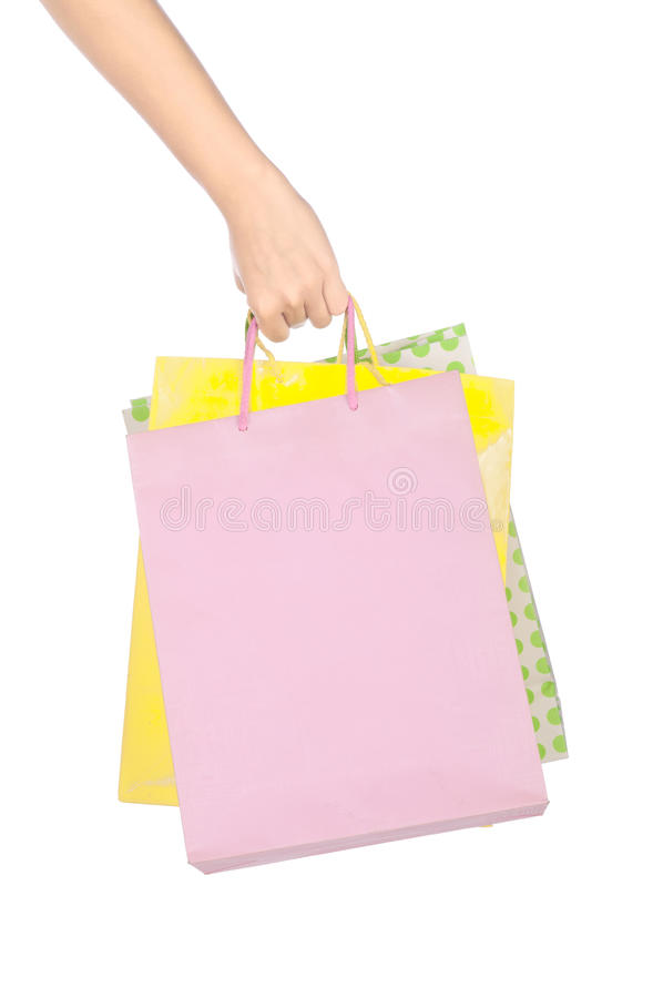Hand Hold Shopping Bag royalty free stock image