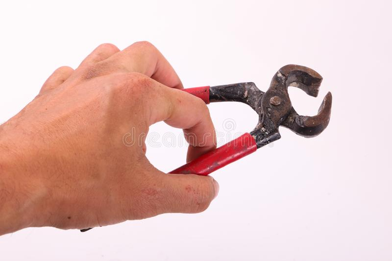 Hand hold hand-tool stock photography