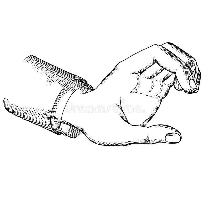 Hand holding stock image