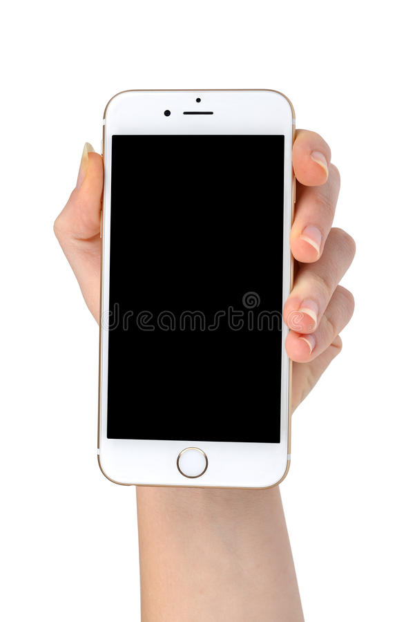Hand Holding Apple iPhone 6 Smart Phone royalty free stock images