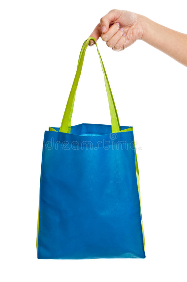 Download Hand holding bag stock image. Image of blue, handle, green - 23303795
