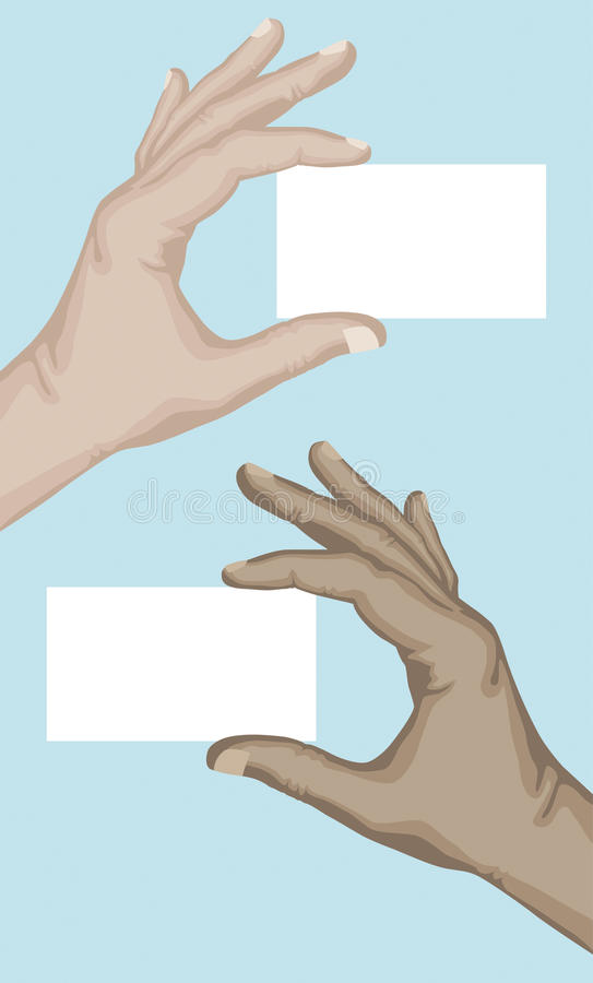Download Hand Holding Blank Card Stock Photography - Image: 24076042