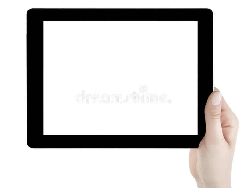 Download Hand Holding Blank Screen Digital Tablet Stock Image - Image: 32034859