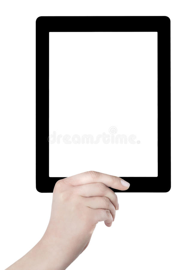 Download Hand Holding Blank Screen Digital Tablet Stock Photography - Image: 32034882