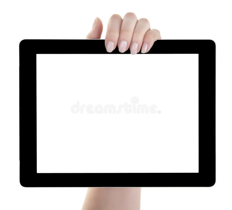 Download Hand Holding Blank Screen Digital Tablet Stock Image - Image: 32034885