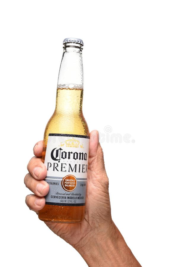 Corona Beer Bottle In Hand Editorial Photo Image Of Bright 100038531