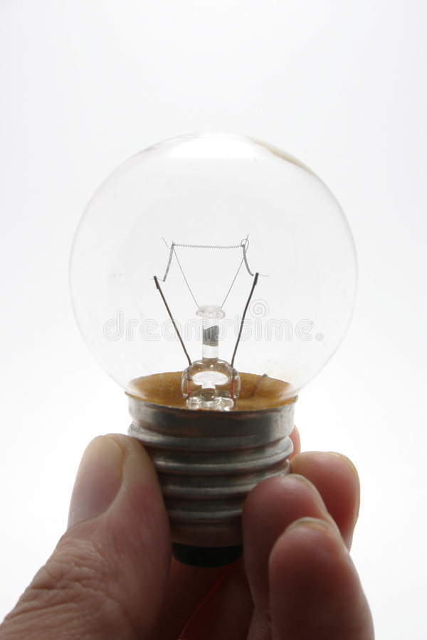 Download Hand holding bulb stock photo. Image of hand, breakthrough - 34878