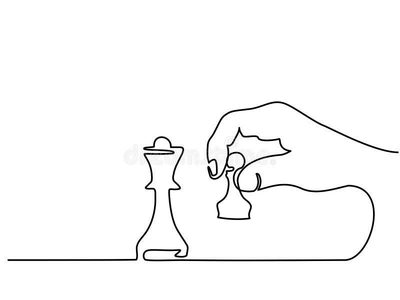 Hand holding chess stock illustration