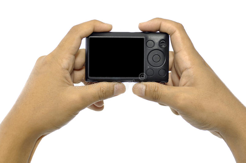 Download Hand Holding Compact Camera Stock Image - Image: 27751407
