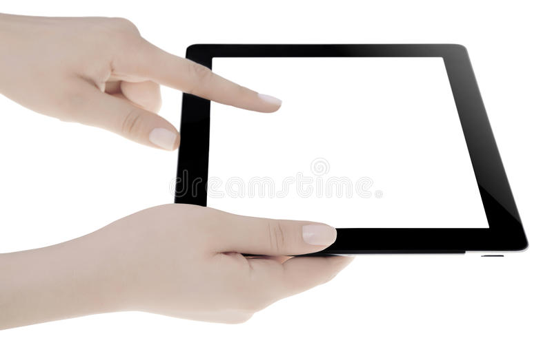 Download Hand Holding Digital Tablet Stock Photo - Image of display, commercial: 32956580