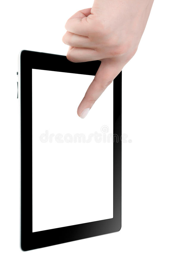 Hand Holding Digital Tablet Stock Images