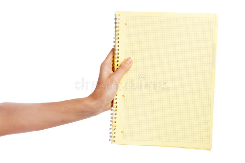 Hand holding a document royalty free stock image