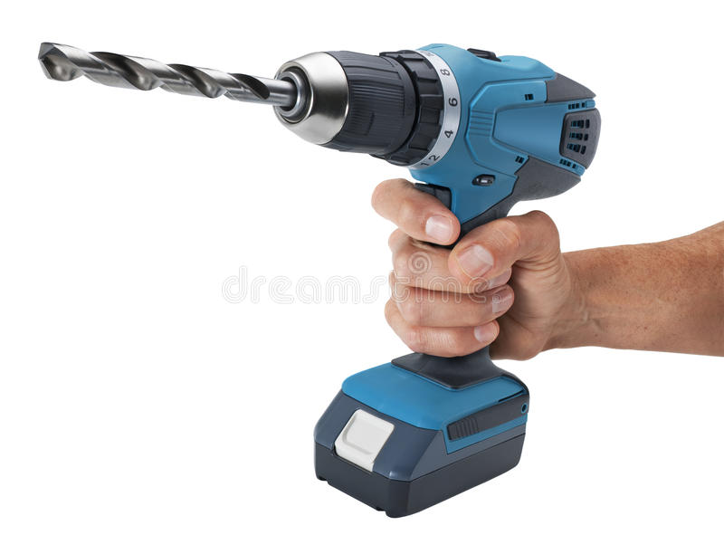 Hand Holding Drill Stock Image