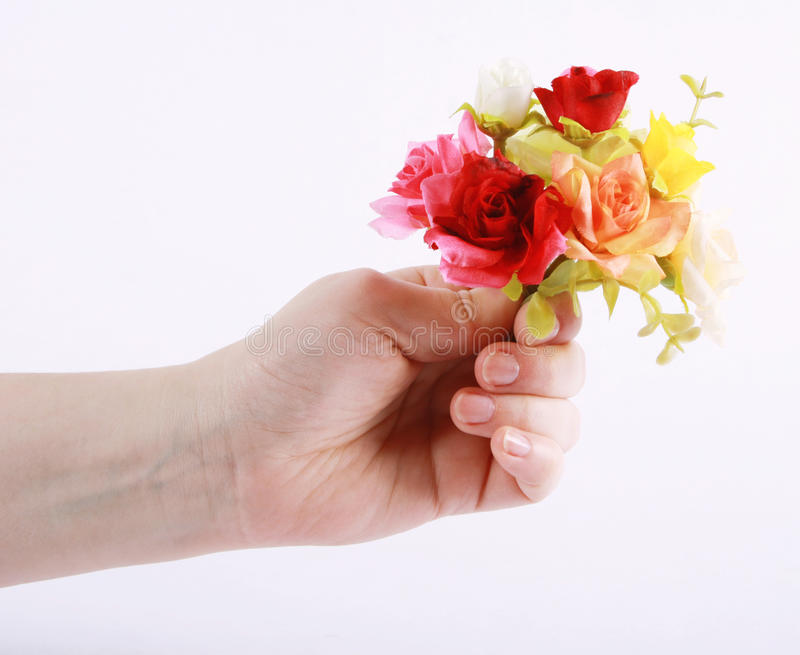 Download A hand holding flowers stock photo. Image of flower, happiness - 23544976