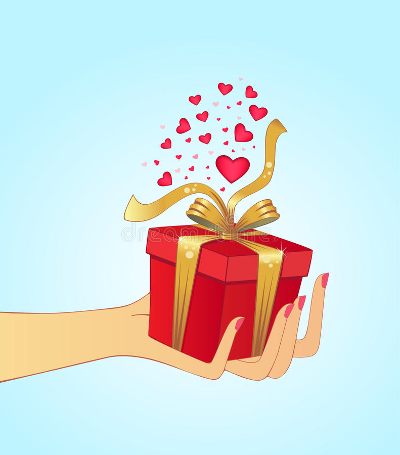 Hand Holding Gift Stock Photography
