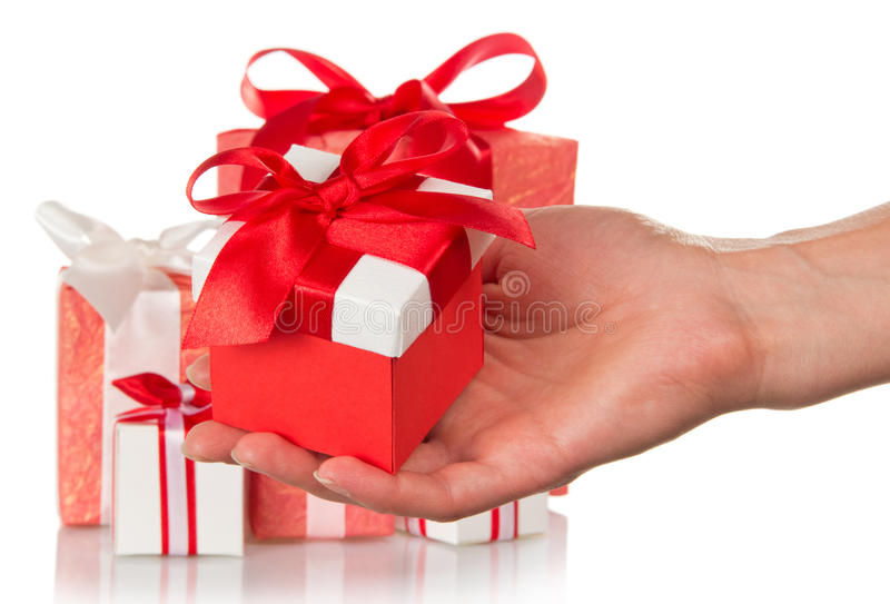 Download Hand holding a gift stock photo. Image of congratulations - 35172386