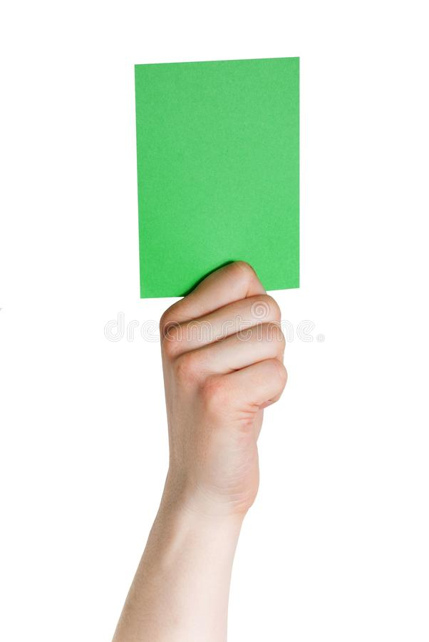 Download Hand holding a green tag stock photo. Image of card, politics - 29897448