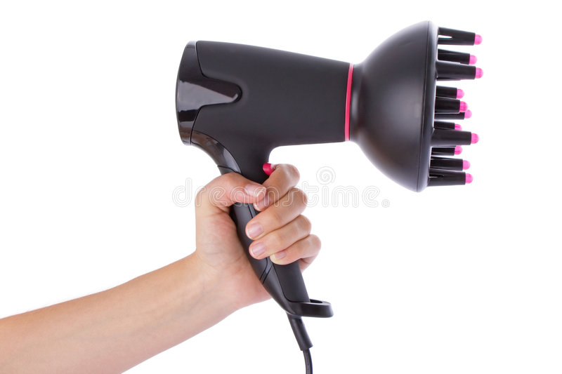 Download Hand holding a hairdryer stock photo. Image of black, holding - 6853668