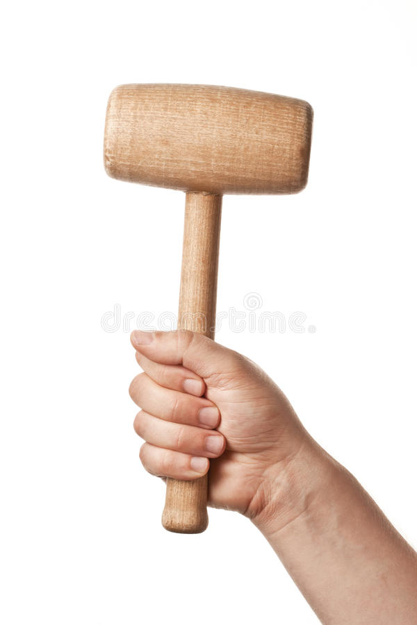 Hand Holding Hammer Royalty Free Stock Photography
