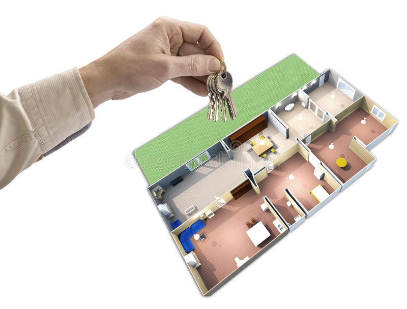 Hand holding keys royalty free stock photography
