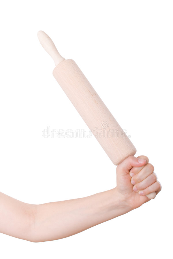 Hand holding a kitchen roll stock photos