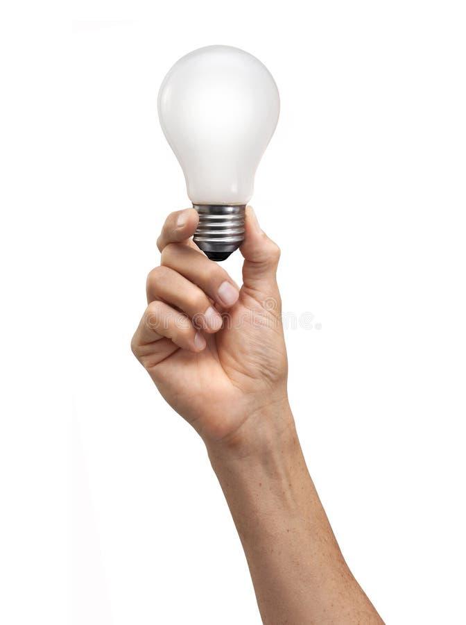 Hand Holding Light Bulb stock photography