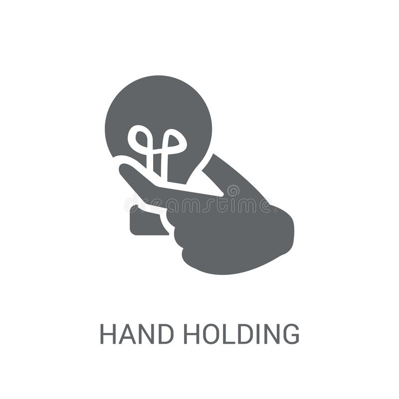 hand holding Lightbulb icon. Trendy hand holding Lightbulb logo vector illustration