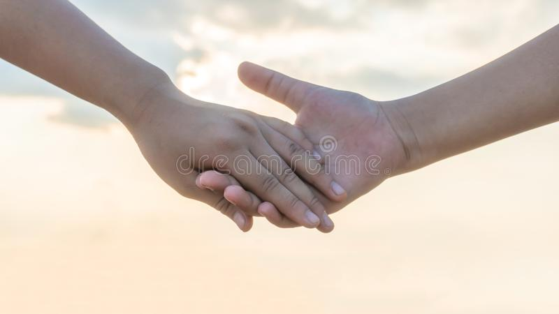 Hand holding lovely story. good memories time royalty free stock photo