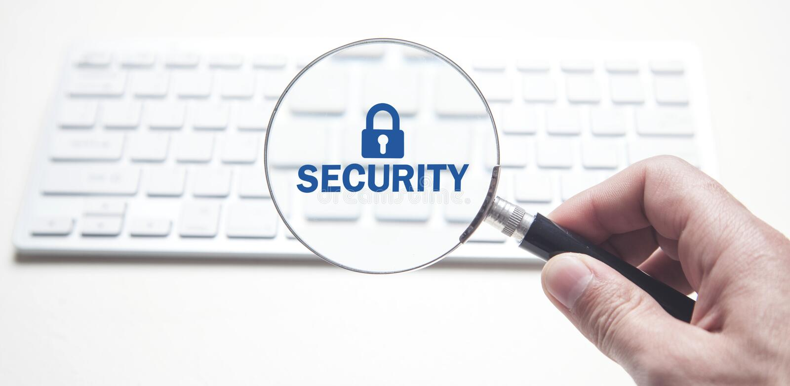 Computer Magnifying Glass Security Stock Photo - Image ...