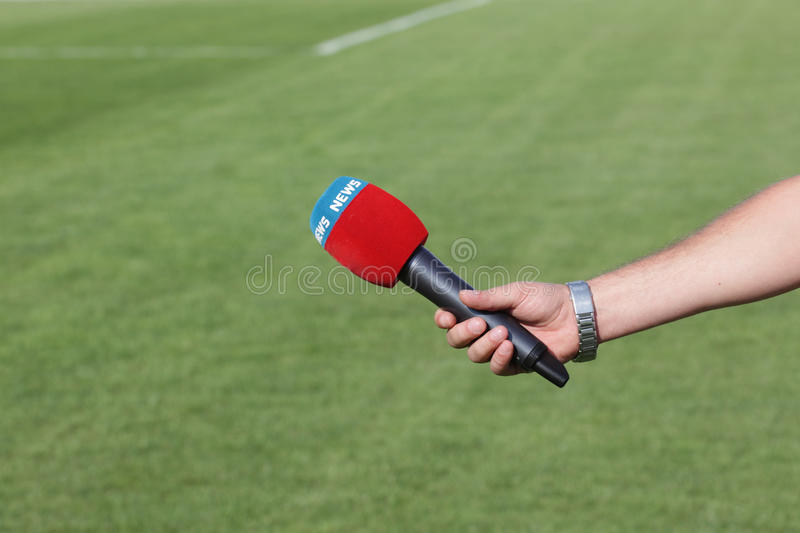 Download Hand Holding Microphone For Interview Stock Image - Image: 36362453