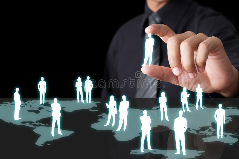Hand holding network stock images