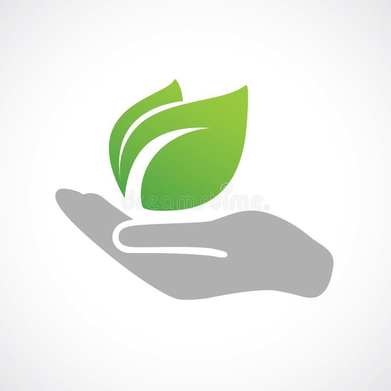 Free Hand Holding Plant. Stock Image - 86478001