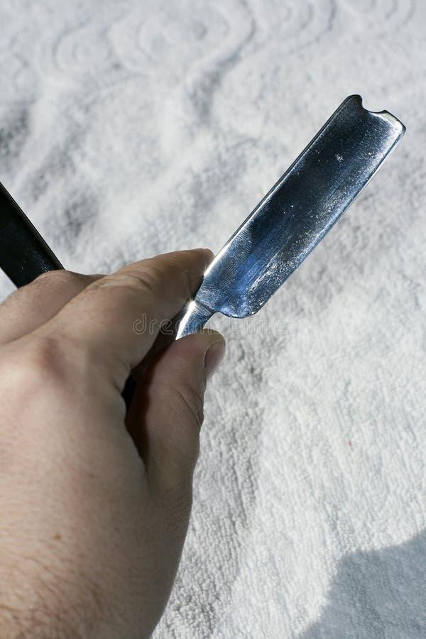 Download Hand holding razor stock image. Image of steel, barber - 23641897