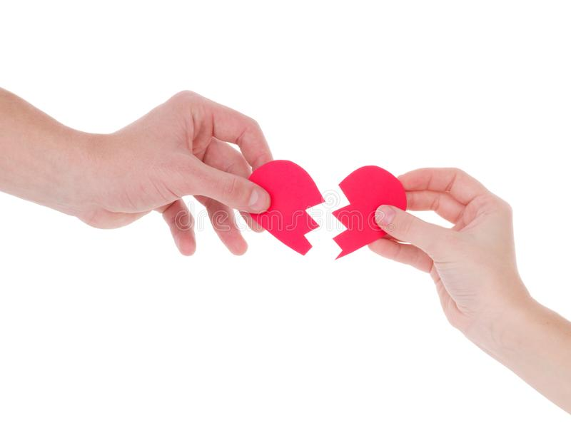 Hand holding a red heart.the concept of love, Valentines day, symbol and romantic. red heart for gift stock photography