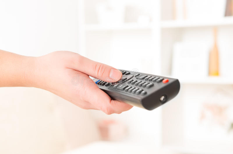 Hand Holding Remote Controller Royalty Free Stock Photo
