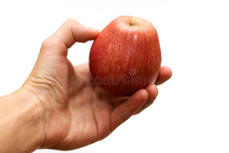 Download Hand Holding Ripe Red Apple Stock Image - Image: 6711679