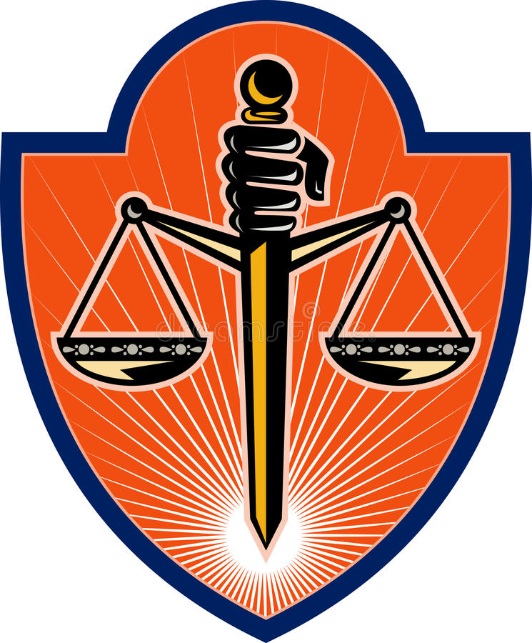 Download Hand Holding Scales Of Justice Royalty Free Stock Photos - Image: 14394718