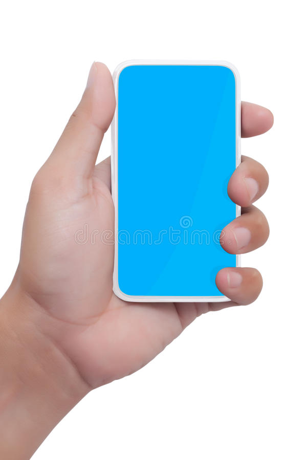 Download Hand holding smart phone stock image. Image of electronics - 20001251