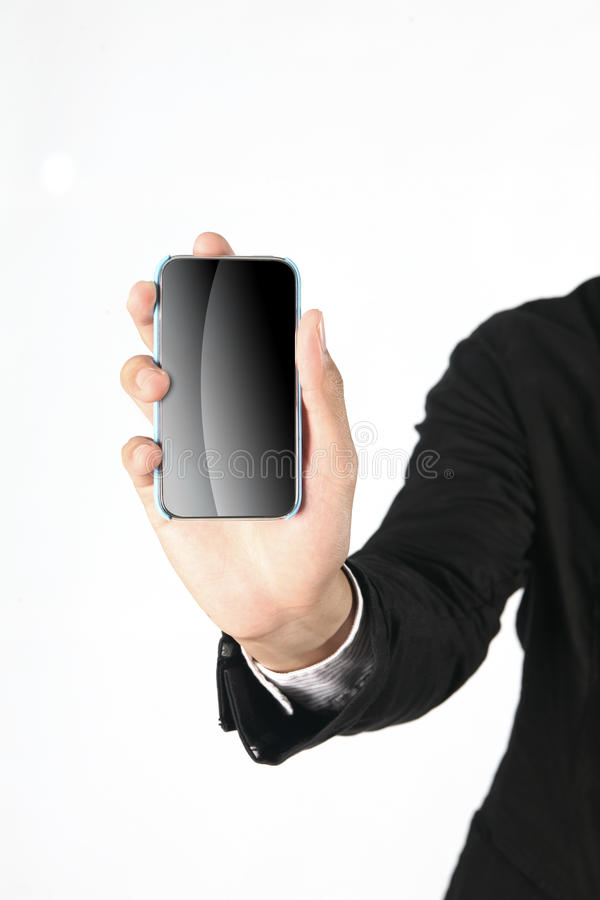 Download Hand holding smart phone stock image. Image of mobility - 21350509