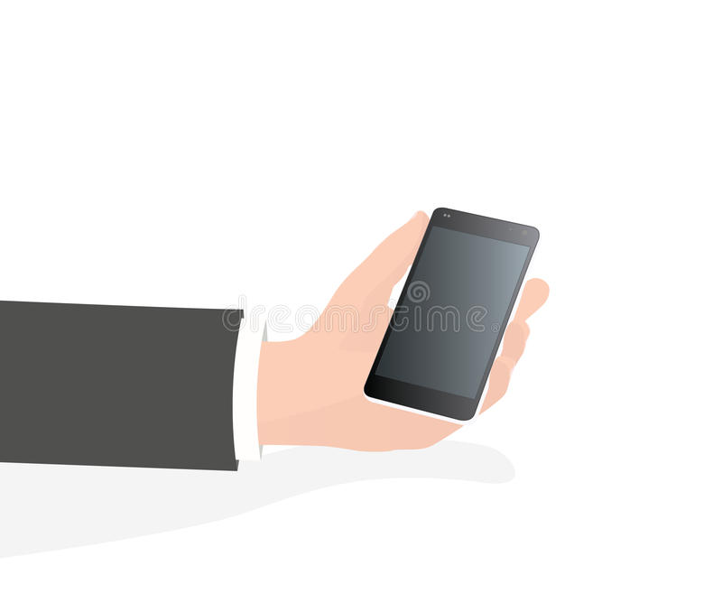 Hand holding smartphone / phone (isolated) royalty free stock photos