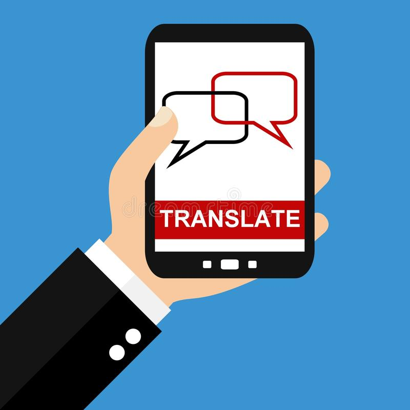 Smartphone: Translate - Flat Design royalty free illustration