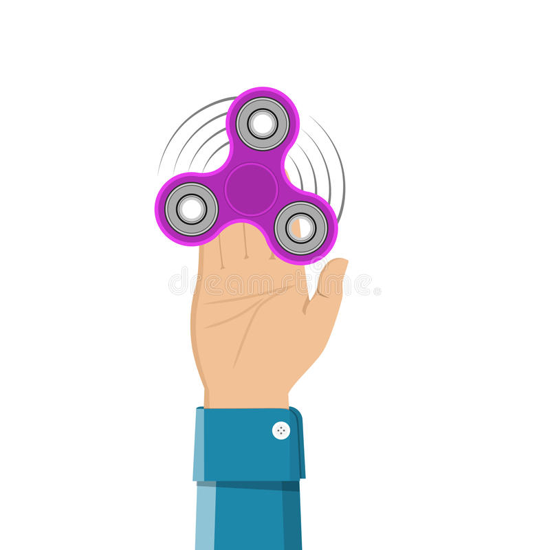 Hand holding spinner. stock illustration