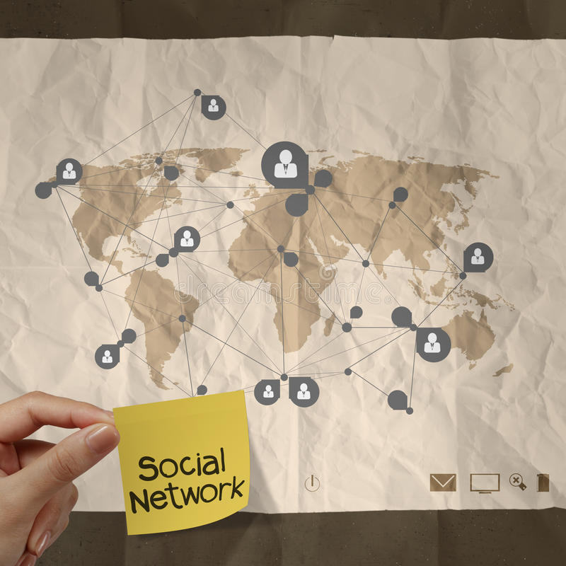 Download Hand Holding Sticky Note Social Network Stock Photo - Image: 34771376