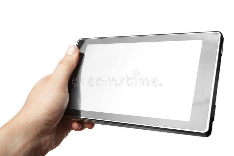 Hand Holding Tablet PC Royalty Free Stock Photo
