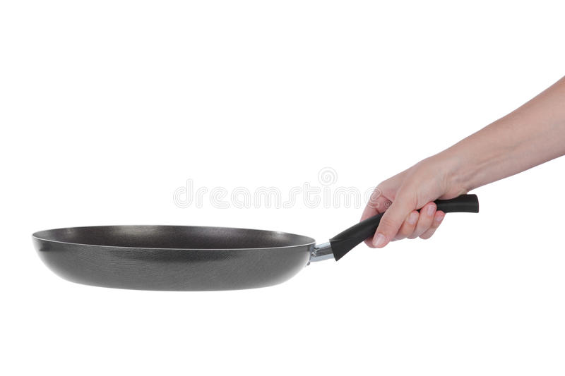 Download Hand Holding A Teflon Frying Pan Stock Photo - Image: 9856014