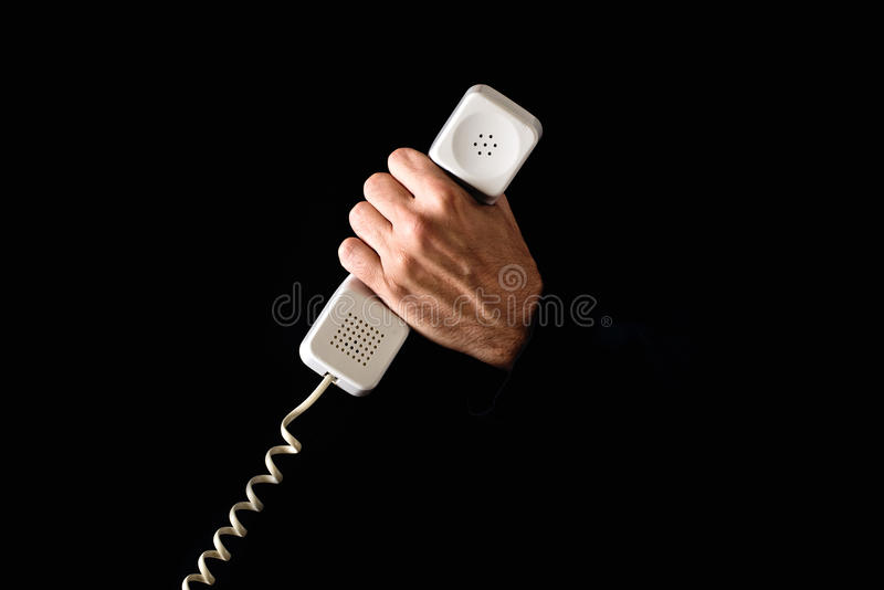 Download Hand Holding Telephone Receiver Stock Image - Image: 33535263