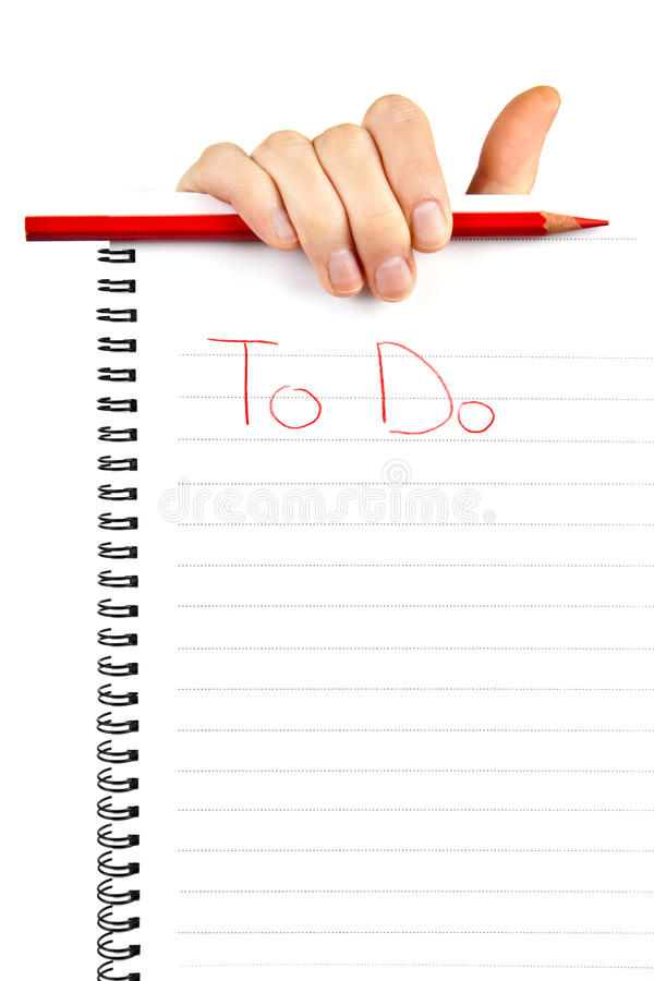 Hand holding to do list royalty free stock photography
