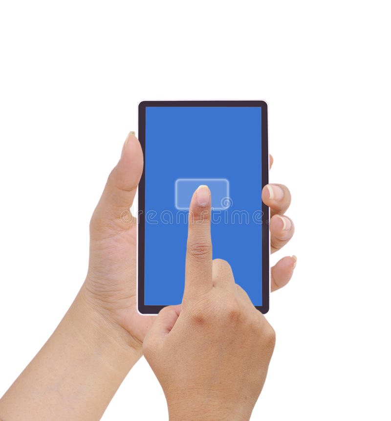 Download Hand holding a touchpad pc stock photo. Image of gadget - 20809818