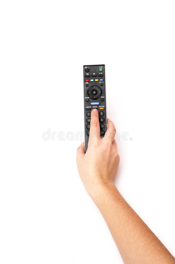 Download Hand Holding A TV Remote Control Stock Illustration - Illustration of push, display: 39502337