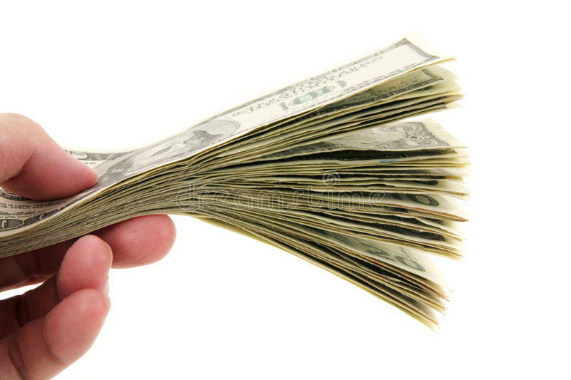 Hand holding us dollars royalty free stock images